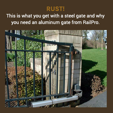 With An All Aluminum Construction You Ll Also Avoid The Rust Commonly Seen At Hinges Of A Steel Gate